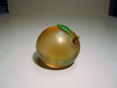 Vintage Orient & Flume Iridescent Round Fruit Shaped Paperweight