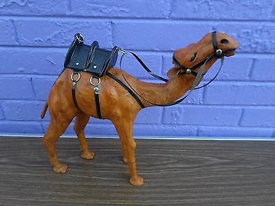 Leather Covered Camel Statue