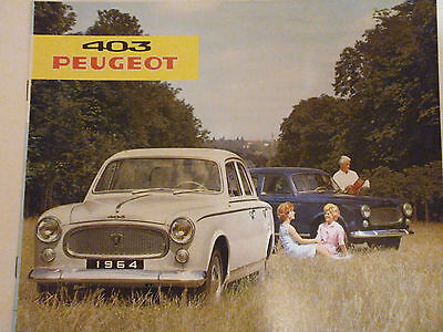Catalogue Brochure Publicitaire 403 Peugeot 1964