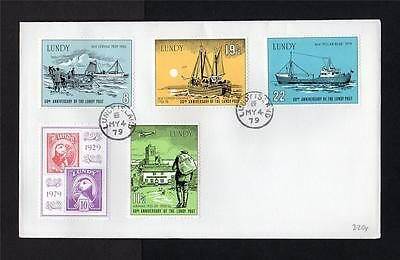 LUNDY: 1979 50th ANNIVERSARY FIRST DAY COVER