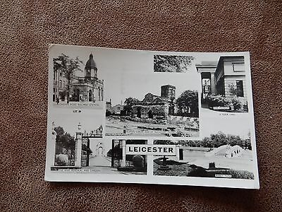 1950's Raphael Tuck Real Photo postcard - Leicester Multiview