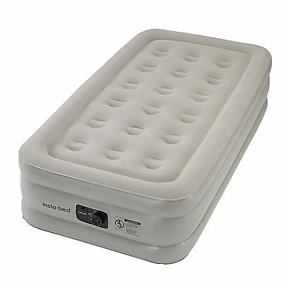 Insta-Bed 18 Inch Twin Sized Inflatable Airbed Mattress with Internal AC Pump