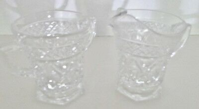 Imperial Glass Ohio CAPE COD CLEAR Cream and Sugar
