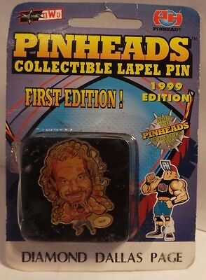Pinheads - 1st edition - Wrestling Lapel Pin - Diamond Dallas Page - sealed