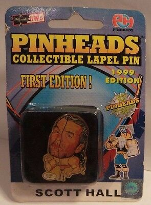 Pinheads - 1st edition - Wrestling Lapel Pin - Scott Hall - sealed