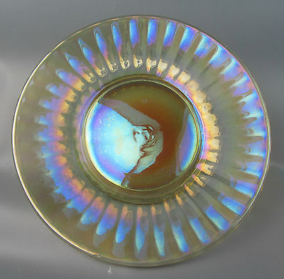 """CARNIVAL GLASS - JENKINS Clambroth PLAIN 6"""" Plate / Saucer #52 with 36 Panels"""