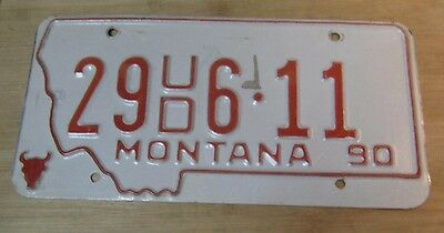 1990 Montana License Plate Expired 29 Ud 6 11