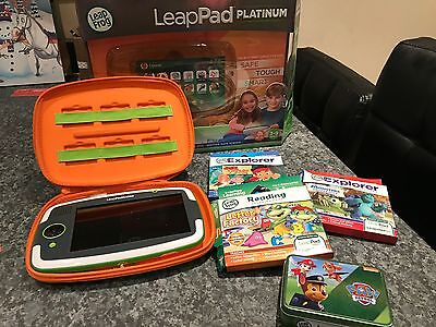 Leappad Platinum Green with box, Leapfrog Carry Case & 4 Games