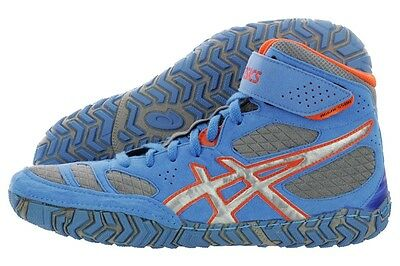 Nib Mens Asics Aggressor 2 Wrestling Shoes - 10.5 / 43.5 -  Blue/silver/orange