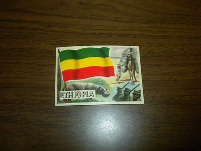 FLAGS OF THE WORLDS #48 ETHIOPIA Topps card 1956 U.S.A. Printing NICE ONE!