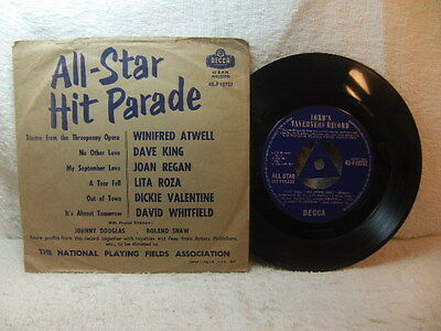 Lord Taverners Record – All Star Hit Parade charity single Decca F 10752 PS