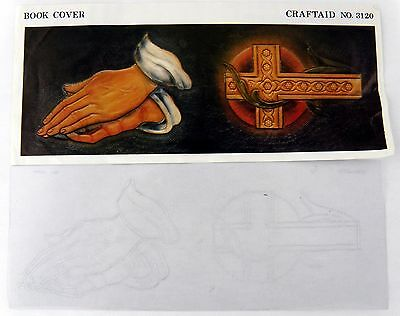 Vintage Book Cover Craftaid #3120 - Praying Hands & Cross - Leathercraft