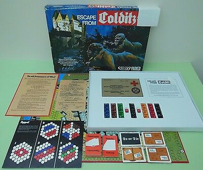 Vintage Escape from Colditz board game by Parker 1970's 100% Complete VGC