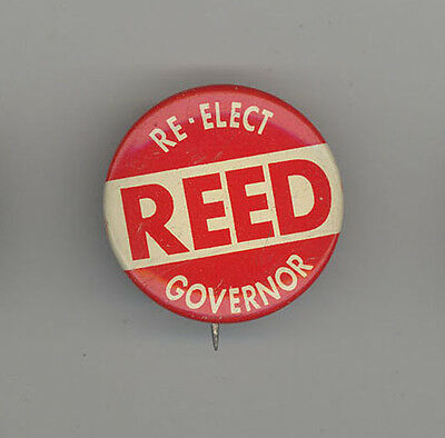 MAINE GOVERNOR JOHN REED Political PINBACK Button PIN Badge CAMPAIGN Local