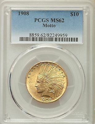 1908 MOTTO Indian Eagle PCGS MS 62