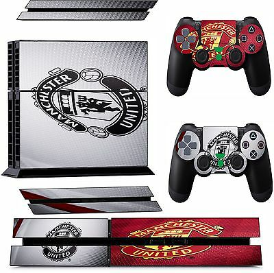 MANCHESTER UNITED ps4 Skins Decals Stickers Playstation 4 Console & Controller