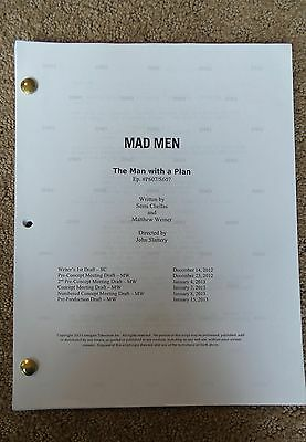 """MAD MEN TV show script...""""THE MAN WITH A PLAN"""""""