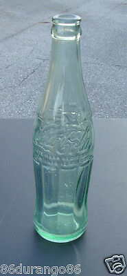 Vintage Coke Coca Cola Soda Bottle 12 Oz Clear Glass