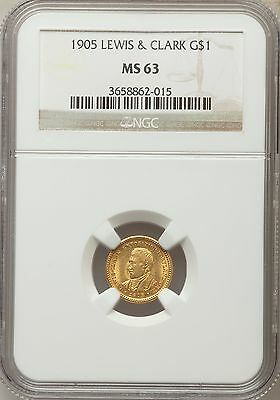1905 Lewis and Clark Commemorative Gold NGC MS 63