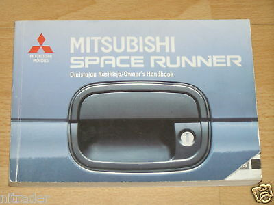 Mitsubishi Space Runner Owners Handbook 1991 - 1997