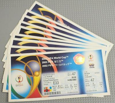 2002 FIFA World Cup KOREA/JAPAN Sky Box and Disabled Unused Tickets