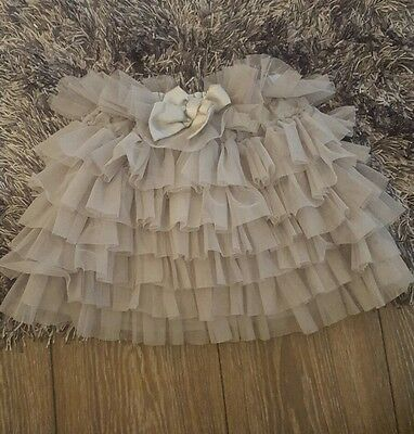 Girls Party Skirt Tutu Christmas Silver Age 3-4