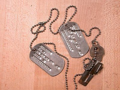 Vintage USMC Marines American Dog Tag Pair Identification USA