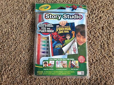 Crayola Story Studio Spider Man Create Your Own Comic Book New In Package