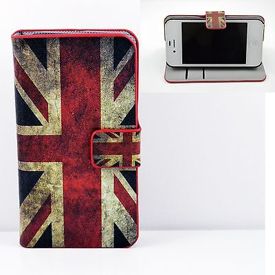 Magnetic Flip Leather Wallet Case Card Slot Phone Cover For Apple Iphone 4 4G 4S