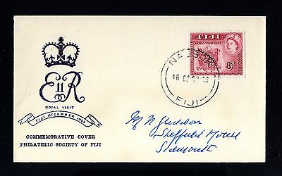 14239-FIJI ISLAND-FIRST DAY COVER NAUSORI.1953.British.ELIZABETH II.Commonwealth