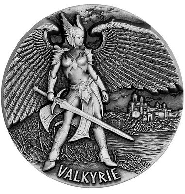 2016, 3 oz VALKYRIE - Chooser Of The Slain, .999 Silver Coin, LEGENDS OF ASGARD