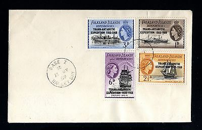 14241-FALKLAND ISLANDS-FIRST DAY COVER HALLEY BAY.1959.BRITISH.Trans-Antarctic.