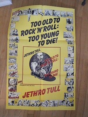 JETHRO TULL Too Old to Rock 23x35 promo poster
