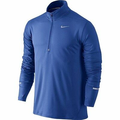 New Mens Nike Element 1/2 Zip Long Sleeve Hand warmer  Running Top Size Large