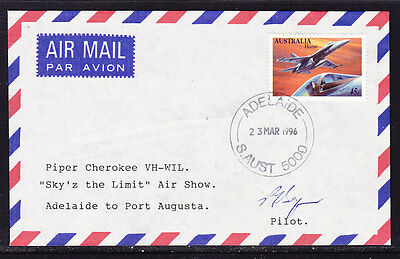 """Australia 1996 -  Adelaide to  Augusta """"Sky'Z the Limit"""" Air Show  Flight  Cover"""