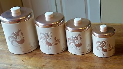 Vintage Ransburg Rooster Canisters Set of 4