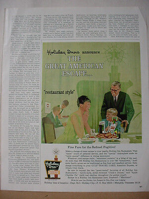 1968 Holiday Inn Hotel Great American Escape Vintage Print Ad 10264