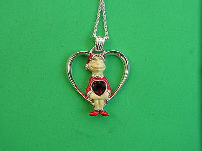 LENOX GRINCH FINDS CHRISTMAS Pendant NECKLACE NEW in BOX with COA