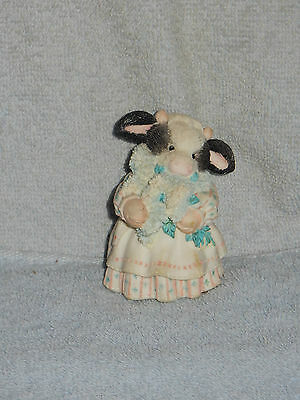 Enesco 1994 Mary's Moo Moos Coming of Spring Brings Udder Joy Lilacs Figurine
