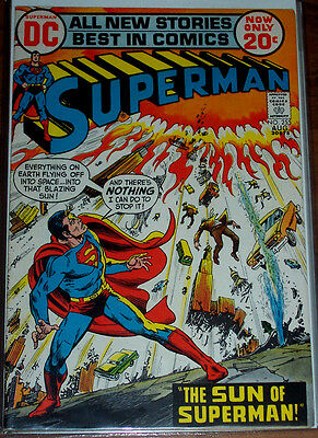 SUPERMAN #255 (FN+) The Sun of Superman! DC 1972