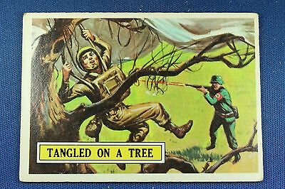 1965 Topps Battle Cards - #51 Tangled In A Tree - Very Good Condition