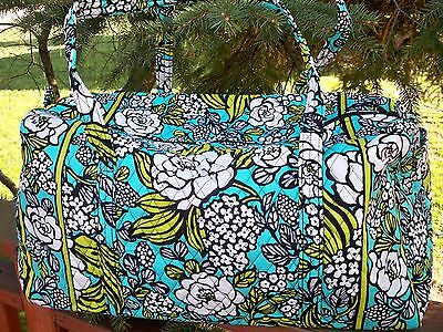 VERA BRADLEY Large Duffel Travel Vacation College Bag Island Blooms