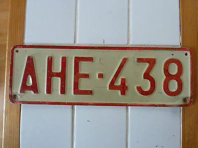 Vintage Foreign License Plate #AHE-438....107g