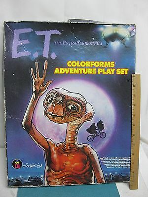 E.T. Extra Terrestrial Colorforms play set dated 1982