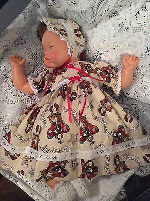 """Doll Clothes for 19""""/20"""" Large Thumbelina """"Christmas AngelsDress Set"""" by Maureen"""