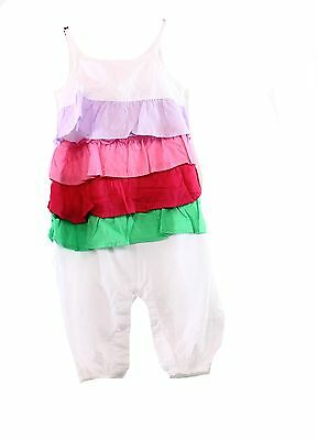 Pumkin Patch NEW White Ruffled Baby Girls 12-18 Months One-Piece $30 DEAL #766