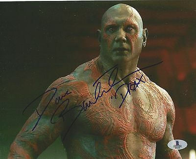 Dave Bautista Autographed Signed Guardians Of The Galaxy Drax Bas Coa 8X10 Photo