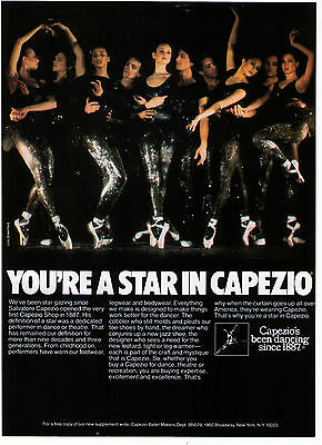"""1980 """"You're A Star In Capezio"""" Lois Greenfield Glitter Photo Advertisement"""