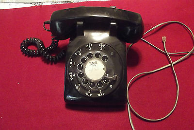 Vintage Northern Electric Black Rotary Dial Desk Telephone Made In Canada