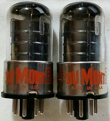 Code Matched Pair 6SJ7GT Dumont NOS NIB Tubes, tested - will combine shipping
